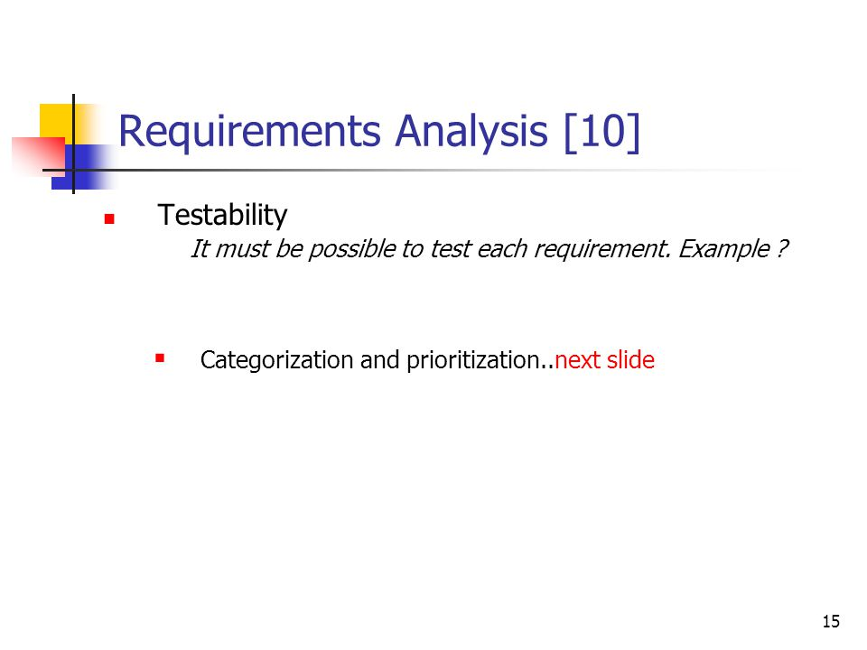 Requirements Analysis [9]